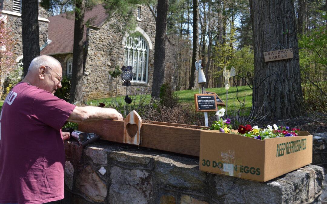 Alumnus tends memorial garden